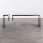 Tavolino Rettangolare in Cristallo Temperato (120x60 cm) Tida, immagine in miniatura 4