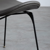 Sedia da Pranzo in Similpelle e Legno Tara, immagine in miniatura 7