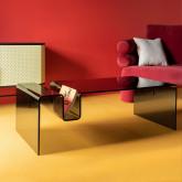Tavolino Rettangolare in Cristallo Temperato (120x60 cm) Tida, immagine in miniatura 2