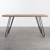 Tavolo da Pranzo in MDF e Metallo (160x90 cm) Velm, immagine in miniatura 1