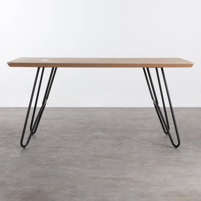 Tavolo da Pranzo in MDF e Metallo (160x90 cm) Velm, immagine della galleria 1