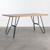 Tavolo da Pranzo in MDF e Metallo (160x90 cm) Velm, immagine in miniatura 3