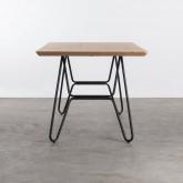 Tavolo da Pranzo in MDF e Metallo (160x90 cm) Velm, immagine in miniatura 4