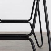 Tavolo da Pranzo in MDF e Metallo (160x90 cm) Velm, immagine in miniatura 5