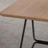 Tavolo da Pranzo in MDF e Metallo (160x90 cm) Velm, immagine in miniatura 7