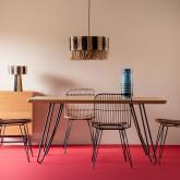 Tavolo da Pranzo in MDF e Metallo (160x90 cm) Velm, immagine in miniatura 2
