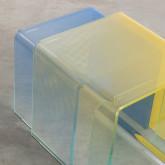 Set 3 Tavoli Ausiliari in Cristallo Temperato Flam, immagine in miniatura 8