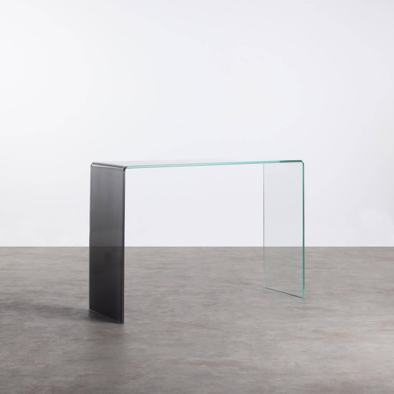 Consolle in Cristallo Temperato (110x35 cm) Lidon, immagine della galleria 1