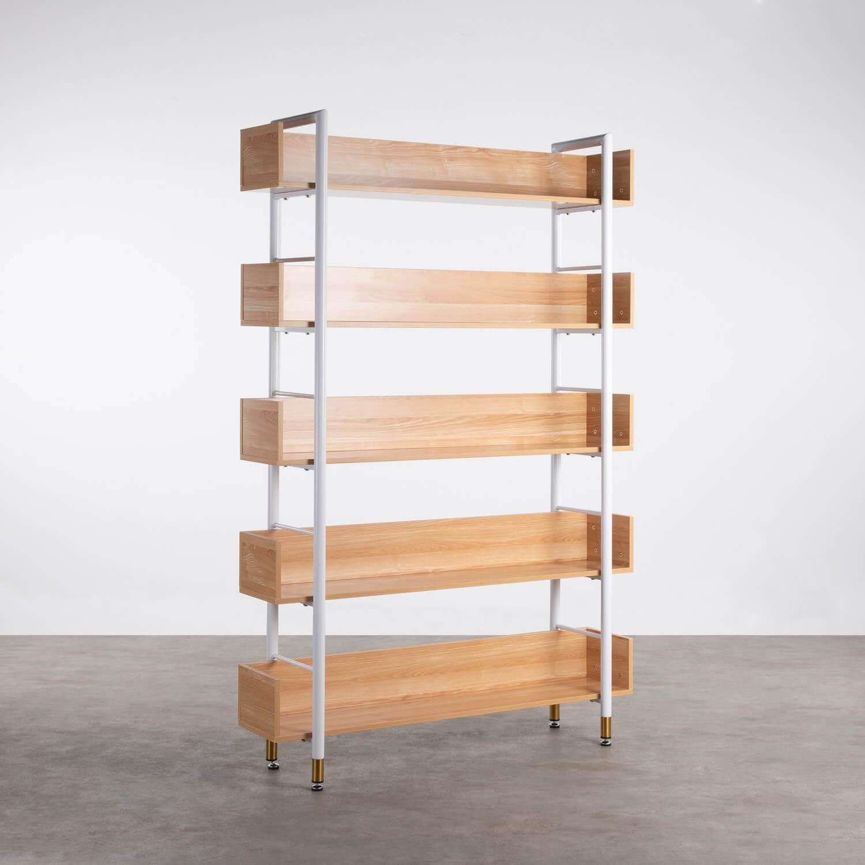 Scaffale in MDF e Acciaio (180x120 cm) Deseq, immagine della galleria 1