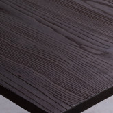 Tavolo da Pranzo in Olmo e Acciaio (80x80 cm) Industrial, immagine in miniatura 3