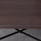 Tavolo da Pranzo in Olmo e Acciaio (80x80 cm) Industrial, immagine in miniatura 4