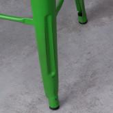 Sgabello Alto in Acciaio Industrial Vintage Colors (76 cm), immagine in miniatura 6