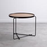Tavolino da Caffé Rotondo in MDF e Metallo (Ø59 cm) Tempo, immagine in miniatura 1