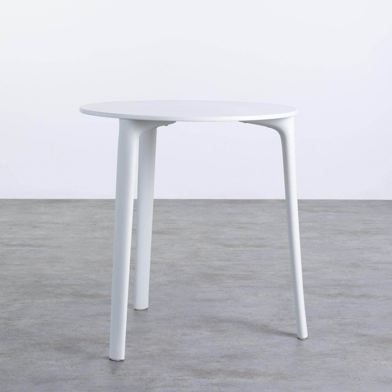 Tavolo da Pranzo Rotondo in Legno e Polipropilene (Ø70 cm) Abi, immagine della galleria 1