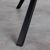 Tavolo da Pranzo Rotondo in MDF e Acciaio (Ø70 cm) Adon, immagine in miniatura 5