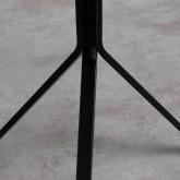 Tavolo da Pranzo Rotondo in MDF e Acciaio (Ø70 cm) Adon, immagine in miniatura 6