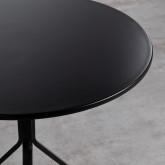 Tavolo da Pranzo Rotondo in MDF e Acciaio (Ø70 cm) Adon, immagine in miniatura 7