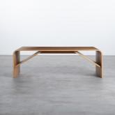 Tavolino da Caffé Rettangolare in Legno (120x58 cm) Shan, immagine in miniatura 4