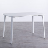 Tavolo da Pranzo Rettangolare in MDF e Polipropilene (120x80 cm) Abi, immagine in miniatura 1