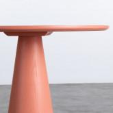 Tavolo Ausiliario Rotondo in MDF e Acciaio (50-60 cm) Era, immagine in miniatura 6