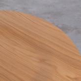 Tavolo Ausiliario Rotondo in MDF e Metallo (Ø60cm) Linka, immagine in miniatura 5