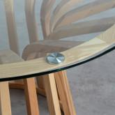 Tavolo da Pranzo Rotondo in Legno e Cristallo (Ø120 cm) Roxet, immagine in miniatura 3
