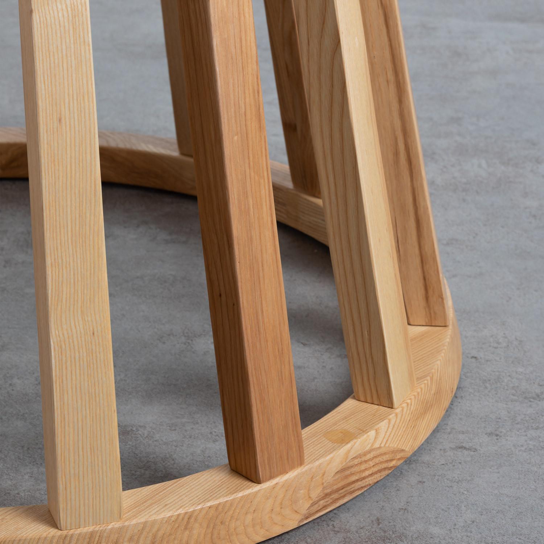 Tavolo da Pranzo Rotondo in Legno e Cristallo (Ø120 cm ...