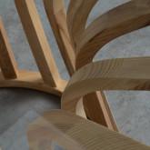 Tavolo da Pranzo Rotondo in Legno e Cristallo (Ø120 cm) Roxet, immagine in miniatura 7