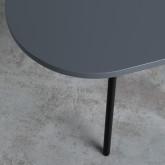 Tavolino da Caffé con 2 Ripiani in Legno e Acciaio (70x35 cm) Tri, immagine in miniatura 5