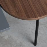 Tavolino da Caffé con 2 Ripiani in Legno e Acciaio (70x35 cm) Tri, immagine in miniatura 6