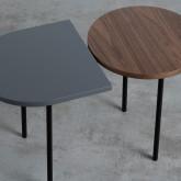 Tavolino da Caffé con 2 Ripiani in Legno e Acciaio (70x35 cm) Tri, immagine in miniatura 7