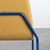 Sedia da Pranzo in Tessuto e Acciaio Plazzo, immagine in miniatura 6