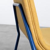 Sedia da Pranzo in Tessuto e Acciaio Plazzo, immagine in miniatura 7
