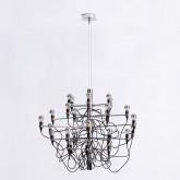 Lampada da Soffitto in Acciaio Salone 30, immagine in miniatura 1