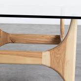 Tavolino da Caffé Quadrato in Legno e Vetro (80x80 cm) Mavhy, immagine in miniatura 4