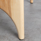 Tavolino da Caffé Quadrato in Legno e Vetro (80x80 cm) Mavhy, immagine in miniatura 6