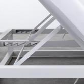 Lettino Doppio Reclinabile in Tessuto e Alluminio Kewin, immagine in miniatura 10
