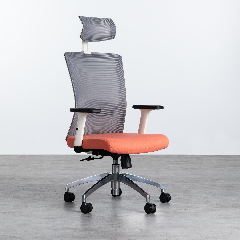 Sedia da Ufficio Ergonomica con Poggiatesta Rancel, immagine della galleria 1