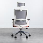 Sedia da Ufficio Ergonomica con Poggiatesta Rancel, immagine in miniatura 5