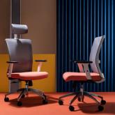 Sedia da Ufficio Ergonomica con Poggiatesta Rancel, immagine in miniatura 2