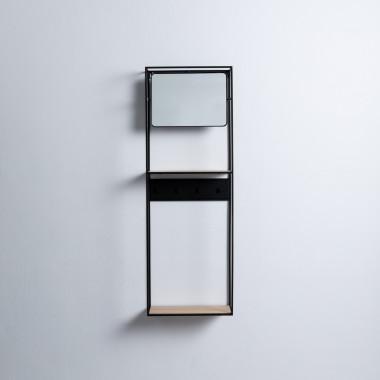 Consolle con Specchio in MDF e Metallo Stella