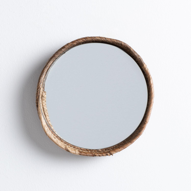 Specchio da Parete Rotondo in Legno (Ø27 cm) Banli, immagine della galleria 1