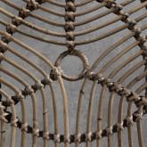 Tavolino Ausiliario Triangolare in Rattan e Metallo (56x56 cm) Tamam, immagine in miniatura 5
