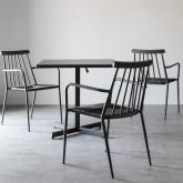 Sedia Outdoor in Rattan e Alluminio Honti, immagine in miniatura 2