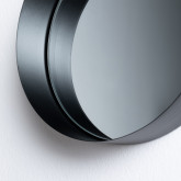 Specchio da Parete Rotondo in Legno (Ø20 cm) Aneu, immagine in miniatura 4