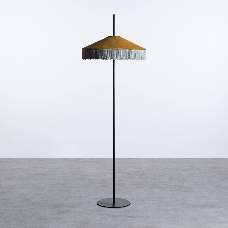 Lampada da Terra in Velluto Pendala, immagine della galleria 1