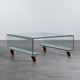 Tavolino da Caffé Quadrato in Vetro (100x100 cm) Rolcris, immagine in miniatura 1