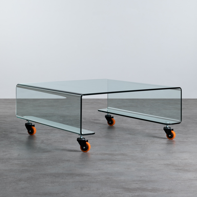 Tavolino da Caffé Quadrato in Vetro (100x100 cm) Rolcris, immagine della galleria 1