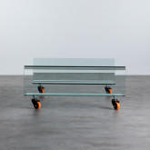 Tavolino da Caffé Quadrato in Vetro (100x100 cm) Rolcris, immagine in miniatura 3