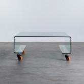 Tavolino da Caffé Quadrato in Vetro (100x100 cm) Rolcris, immagine in miniatura 4
